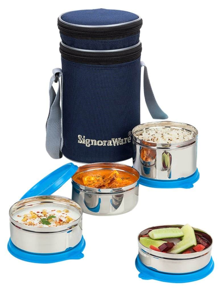 Signoraware Executive Stainless-steel Lunch Box Set