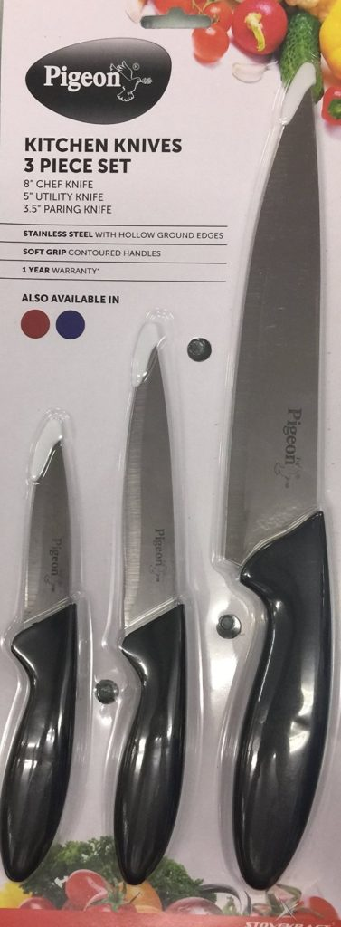 Pigeon byStovecraft Stainless Steel Kitchen Knives Set Of Three