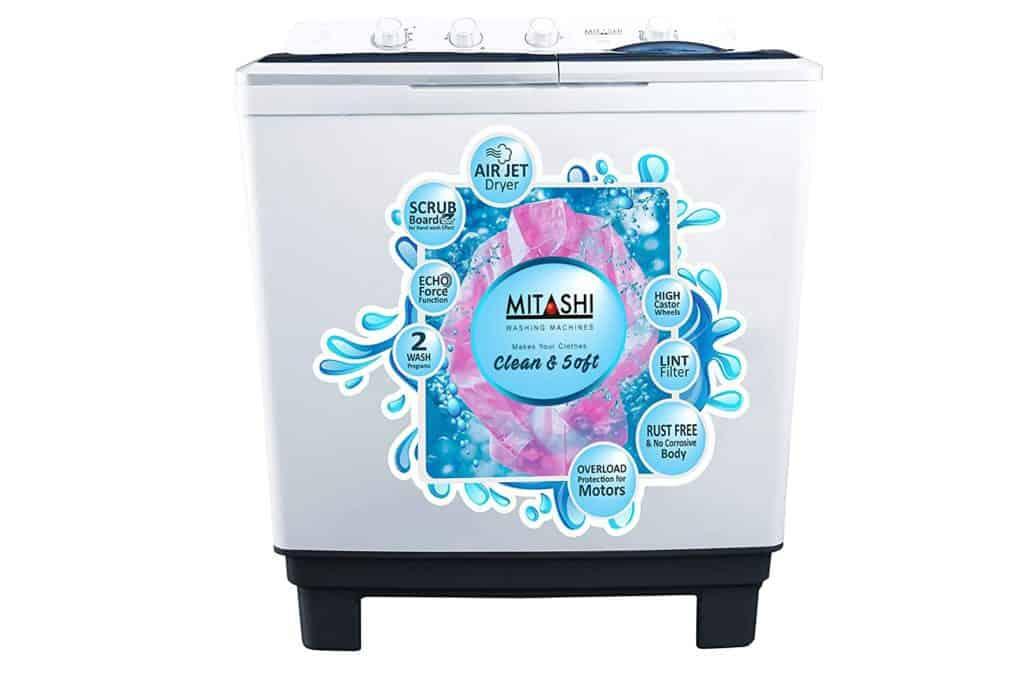 Mitashi Semi- Automatic Top Loading Washing Machine