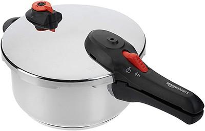 AmazonBasics Stainless-Steel Pressure Cooker 4-Litres