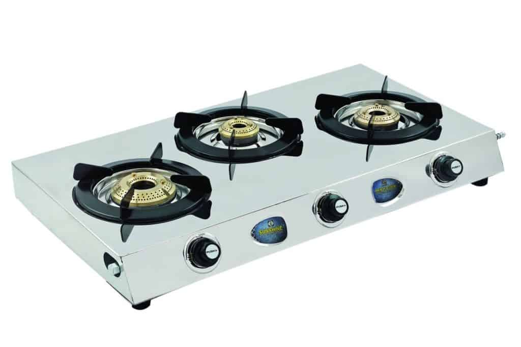 Auto 3 Burner Gas Stove