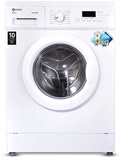 Koryo 8 kg Fully-Automatic Front Loading Washing Machine