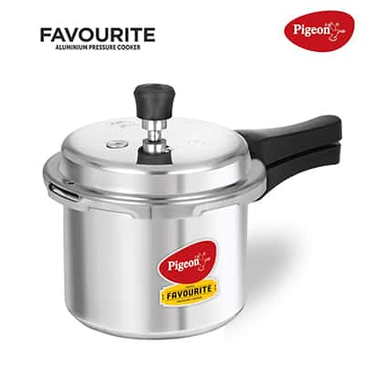 Pigeon ByStovekraft Induction Base Aluminum Pressure Cooker 3-Litre