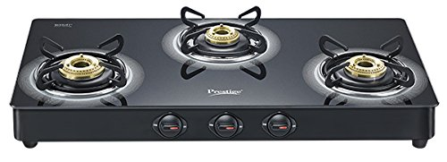 Prestige Edge Schott Glass 3 Burner Gas Stove