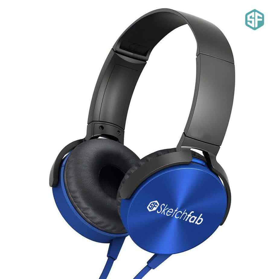 Sketchfab Extra Bass Headphones