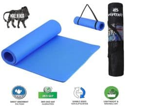 VIFITKIT Non-Slip Yoga Mat with Shoulder Strap and Carrying Bag