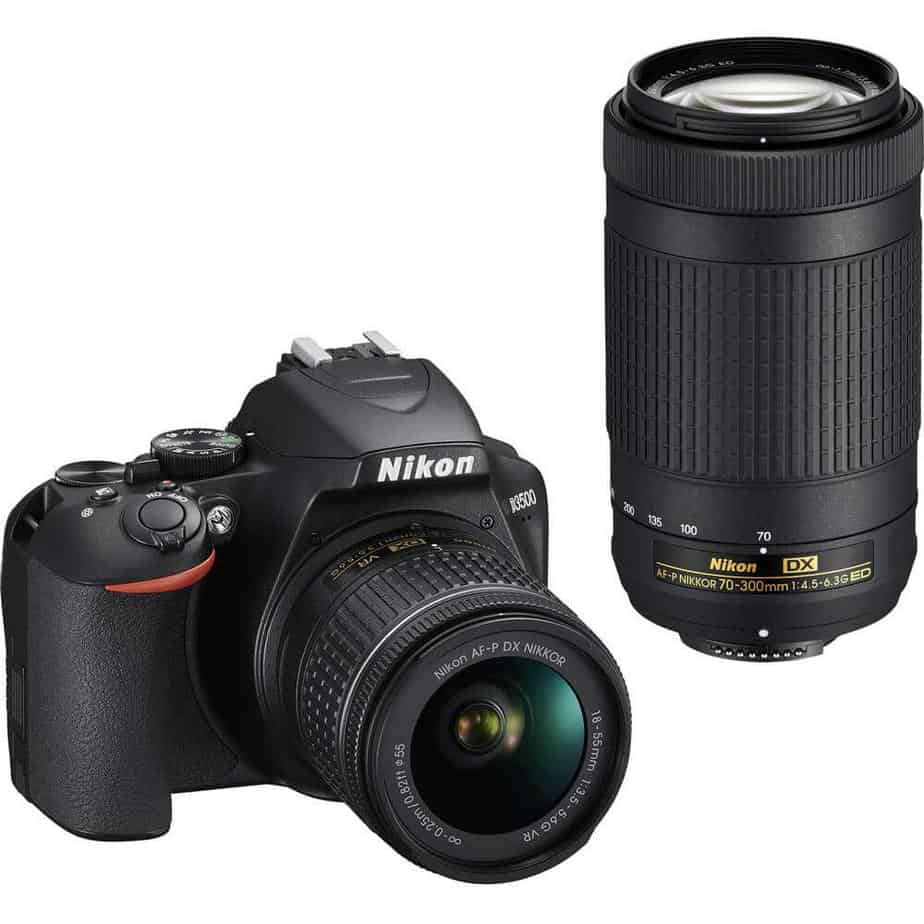 Nikon D3500 – 70-300 mm 16 GB class with 10SD CARD