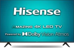 Hisense 108cms 4K ultra HD certified Android TV