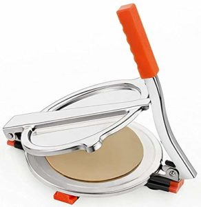 Stainless Steel Roti and Chapati Presser with Fitted Handle