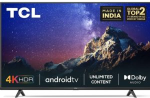 TCL 4K Ultra HD Certified Android Smart LED TV 43P615 (Black)
