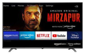 AmazonBasics 43 inches Fire TV Edition 4K Smart LED Ultra HD TV