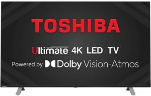 Toshiba 4K Ultra HD Smart LED TV 55U5050 139 cm (55 inches) (Black) Vidaa OS Series (2020 Model) | With Dolby Vision and ATMOS