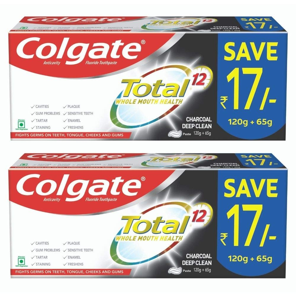 Colgate Total Whole Mouth Health, Charcoal Deep Clean Anitbacterial Toothpaste