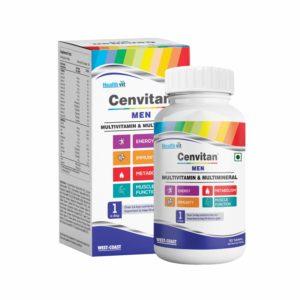 Healthvit Cenvitan Men Multimineral & Multivitamin with 24 Nutrients