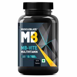 MuscleBlaze MB- Vite Multivitamin with Immunity Boosters-100% RDA Vitamin C, D, Zinc