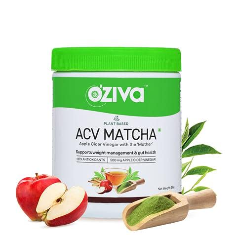 Oziva Plant-Based ACV Matcha